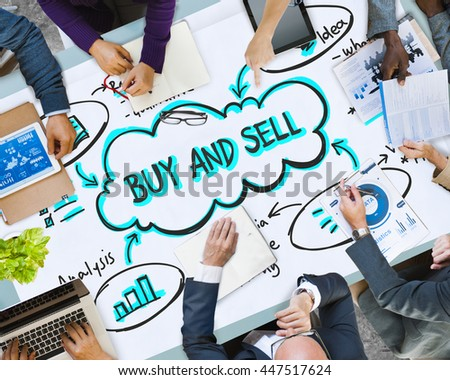 Advertisement Marketing Promotion Commerce Business Concept - stock photo