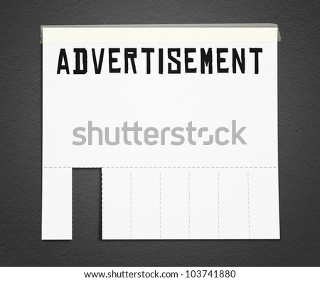 Advertisement Poster Background