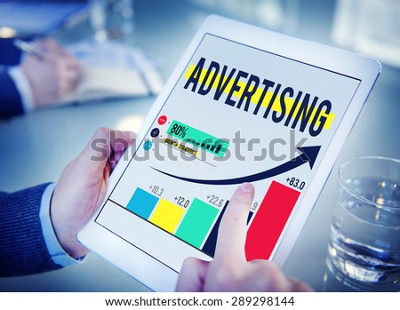 Advertising Advertise Branding Commercial Marketing Concept - stock photo