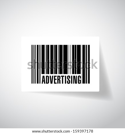 advertising barcode upc. illustration design graphic over grey - stock photo