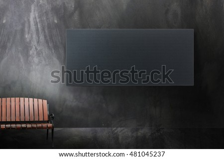 Advertising Billboard LED on wall texture and chair