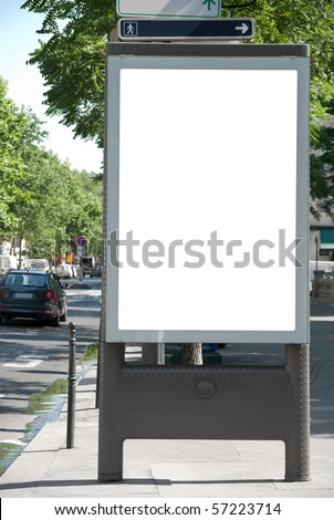 Advertising board - stock photo