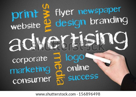 Advertising - Business Concept - stock photo