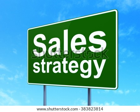 Advertising concept: Sales Strategy on road sign background - stock photo