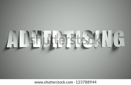 Advertising cut from paper, background - stock photo