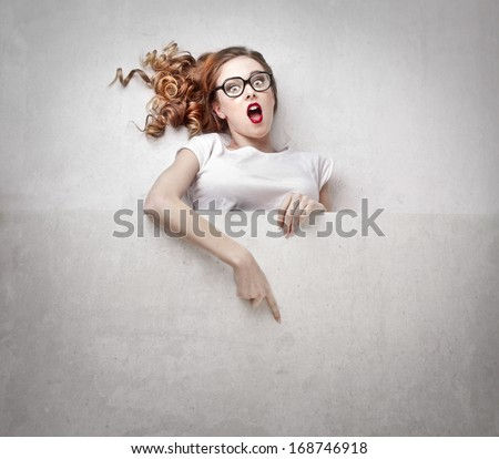 Advertising Girl - stock photo