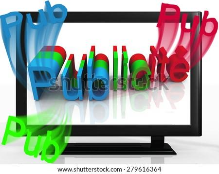 Advertising on TV - stock photo