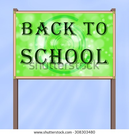 "Advertising sign ""Back to School"""