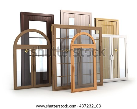 Advertising Windows and doors (done in 3d rendering)