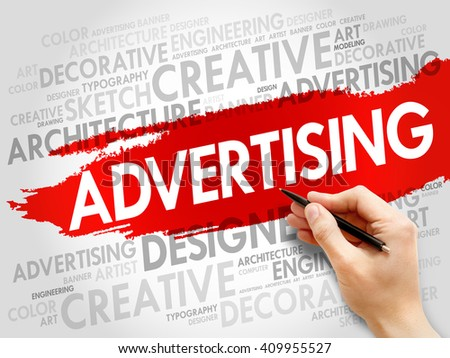 ADVERTISING word cloud, business concept