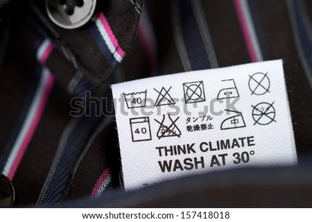 advice for your laundry - stock photo