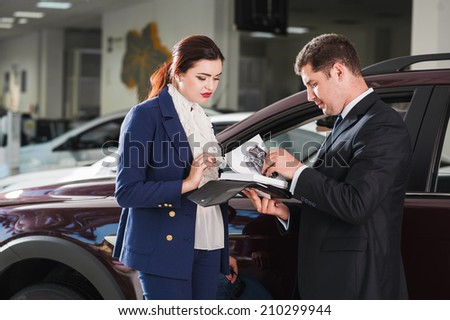Advice on buying a car - stock photo