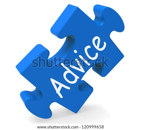 Advice Shows Support Help And Assistance Information - stock photo