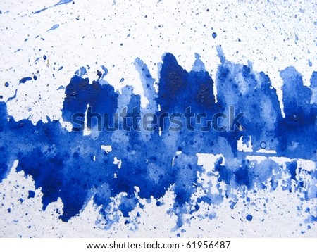 Aegean Blue Watercolor Background 1 - stock photo