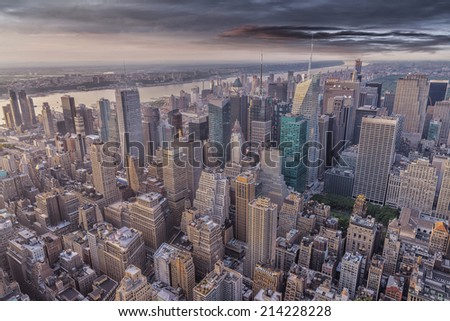 Aereal view of Manhattan.