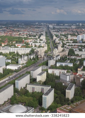 Aerial bird eye view of the city of Berlin Germany