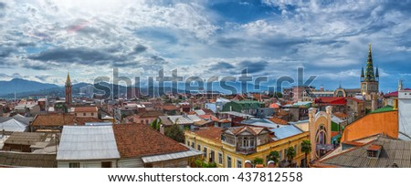 Aerial cityscape panorama of Batumi. Georgia. - stock photo