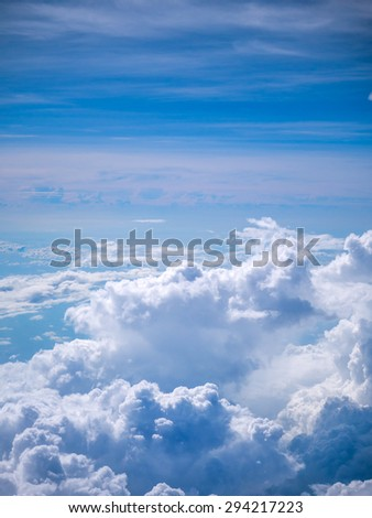 Aerial Clouds on the horizon