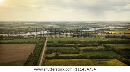 Aerial Dakota View - stock photo