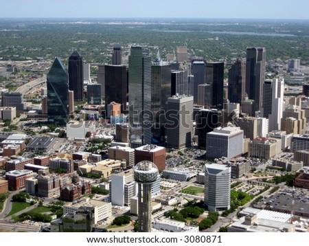 Aerial of Dallas 2 - stock photo