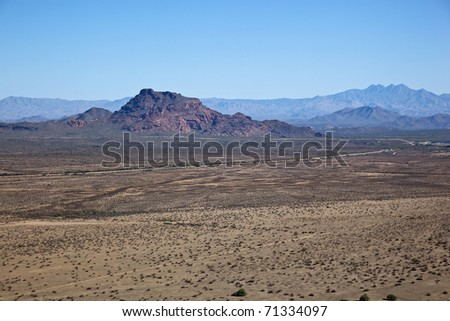 Aerial of Red Mountain, Mesa, Arizona - stock photo