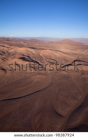Aerial Panoramic of Chile - stock photo