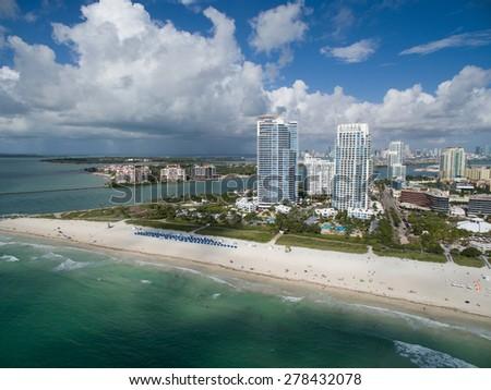 Aerial photo Miami - stock photo