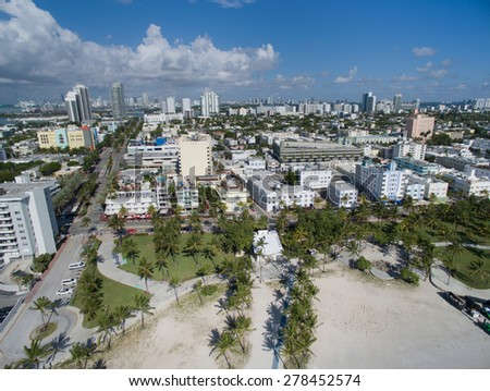 Aerial photo of Miami Beach Florida. Please visit my video gallery for great aerial videos of Miami Beach.  - stock photo