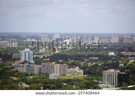 Aerial photo of North Miami Beach FL - stock photo