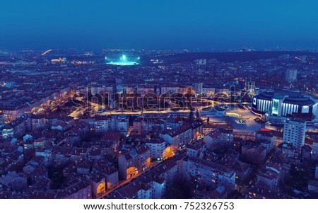Aerial Photography Beautiful Landscapes Cities Above Stock Photo
