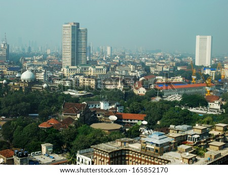 Aerial Shot Of South Mumbai - stock photo