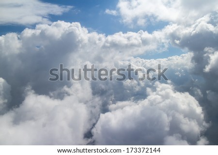 Aerial sky and clouds - stock photo