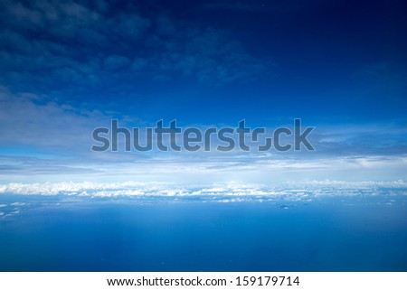 Aerial sky and clouds background - stock photo