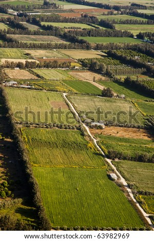 Aerial view at farm fields, Cyprus