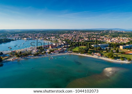 Aerial view from Medulin beach, Croatia