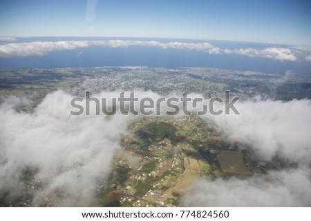 Aerial View in Reunion Island - Saint-Pierre