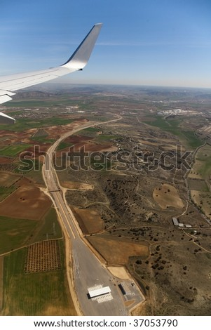 aerial view of a highway under construction. - stock photo