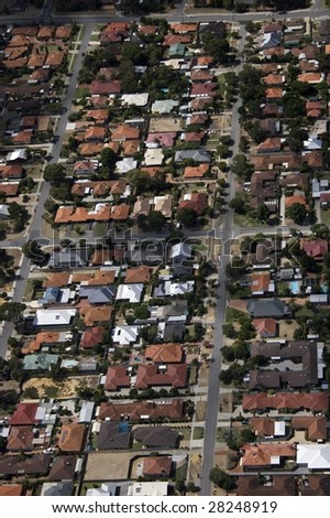 Aerial view of a Perth Suburb