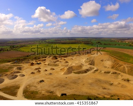 aerial view of a sandstone quarry in germany
