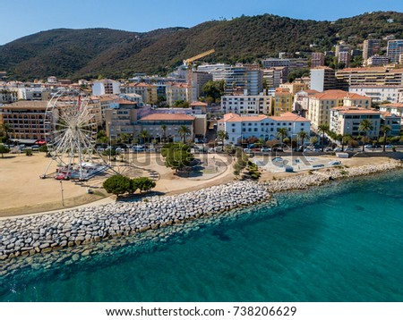 Aerial View Ajaccio Corsica France Ferris Stock Photo 738206629