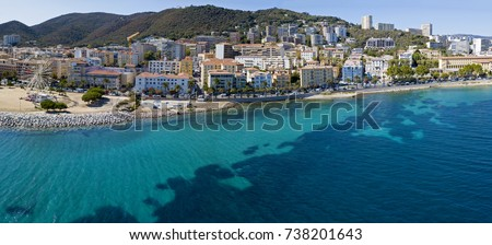 Aerial View Ajaccio Corsica France Harbor Stock Photo 738201643