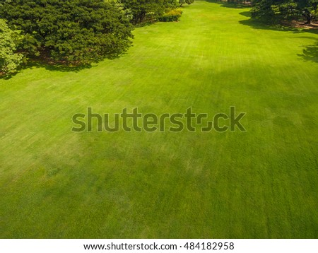 Aerial view of beautiful park