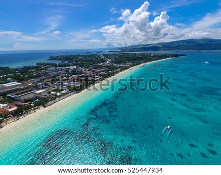Aerial view of Boracay