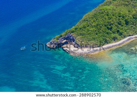 aerial view of Boracay island, Philippines - stock photo