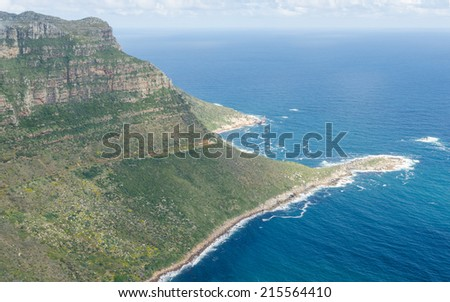 Aerial view of Cape Town's coast  South Africa - stock photo