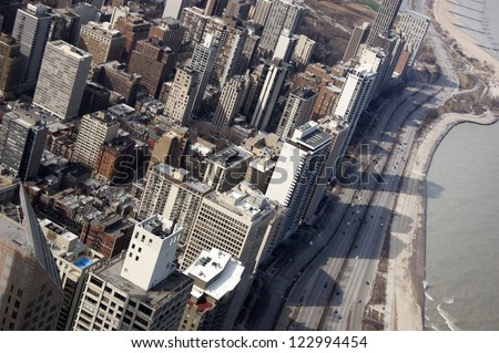 Aerial View of Chicago's Northern Skyline