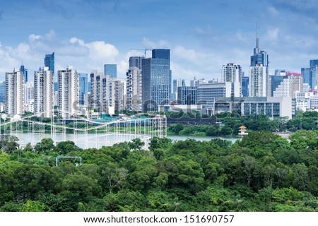 Aerial view of chinese city,shenzhen