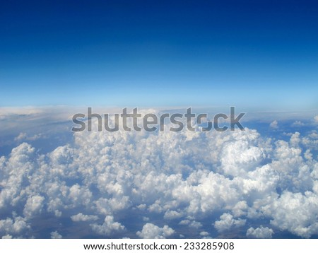Aerial View of clouds - stock photo