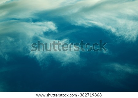 Aerial view of clouds in beautiful colors - stock photo