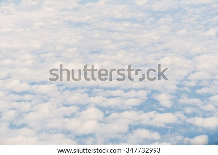 Aerial view of clouds with blue sky nature.
